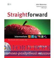 Тетрадь Straightforward Intermediate Workbook with key and CD 3rd Edition 9780230423268 купить Киев Украина