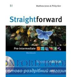 Тетрадь Straightforward Pre-Intermediate Workbook without key with CD 2nd Edition 9780230423152 купить Киев Украина