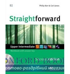 Тетрадь Straightforward Upper-Intermediate Workbook with key and CD 3rd Edition 9780230423350 купить Киев Украина