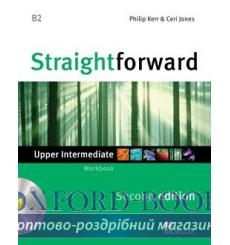 Тетрадь Straightforward Upper-Intermediate Workbook without key with CD 2nd Edition 9780230423367 купить Киев Украина