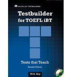 Тесты TOEFL iBT Testbuilder with key and Audio CDs ISBN 9780230409712