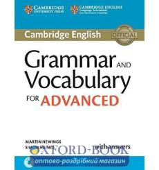 Грамматика Cambridge Grammar and Vocabulary for Advanced with Answers and Downloadable Audio Hewings, M ISBN 9781107481114 ку...