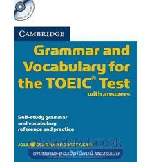 Книга Cambridge Grammar and Vocabulary for the TOEIC Test with key and Audio СD ISBN 9780521120067