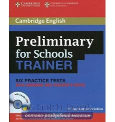 Тесты Cambridge Preliminary for Schools Trainer 6 Practice Tests with key and Teachers Notes and Audio CDs 9780521174879 купи...
