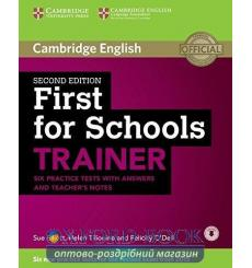 Тесты Trainer: First for Schools Six Practice Tests with answers with Downloadable Audio 2nd Edition 9781107446052 купить Кие...