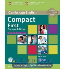 Учебник Compact First Students Book without answers with CD-ROM  3rd Edition 9781107428423 купить Киев Украина