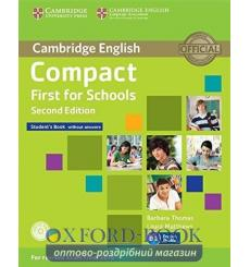 Учебник Compact First for Schools Students Book without answers with CD-ROM  3rd Edition 9781107415560 купить Киев Украина