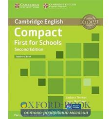 Compact First for Schools Teachers Book  3rd Edition 9781107415676 купить Киев Украина