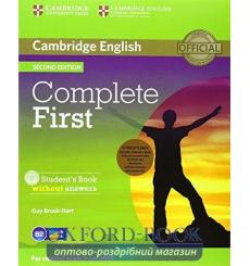 Complete First Students Pack (SB without key with CD-ROMWB without key with Audio CD) 2nd Edition 9781107651869 купить Киев У...