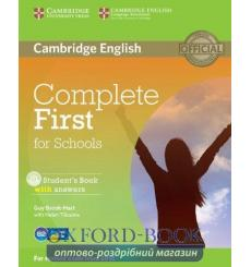 Complete First for Schools students book with answers with CD-ROM 9781107661592 купить Киев Украина