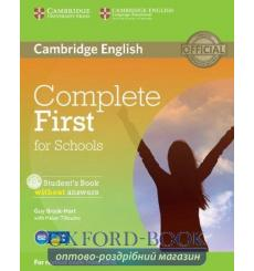 Complete First for Schools students book without Answers with CD-ROM 9781107675162 купить Киев Украина