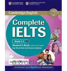 Учебник Complete IELTS Bands 4-5 Students Book without key with CD-ROM with Testbank ISBN 9781316601983 купить Киев Украина