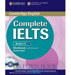 Тетрадь Complete IELTS Bands 4-5 workbook with Answers with Audio CD Wyatt R 9781107602458 купить Киев Украина