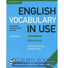Словарь Vocabulary in Use 3rd Edition Advanced with Answers and Enhanced eBook ISBN 9781316630068
