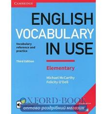 Словарь Vocabulary in Use 3rd Edition Elementary with Answers and Enhanced eBook Makkarti, M ISBN 9781316631522