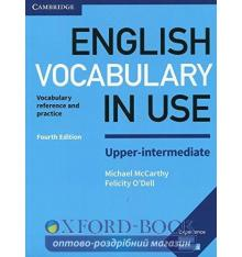 Словарь Vocabulary in Use 4th Edition Upper-Intermediate with Answers McCarthy, M ISBN 9781316631751