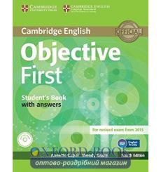 Учебник Objective First Students Book with answers with CD-ROM Capel, A 3rd Edition 9781107628304 купить Киев Украина