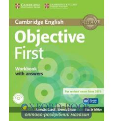 Тетрадь Objective First workbook with answers with Audio CD Capel, A 3rd Edition 9781107628458 купить Киев Украина