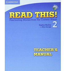 Read This! 2 Teachers Manual + CD Savage, A ISBN 9780521747912