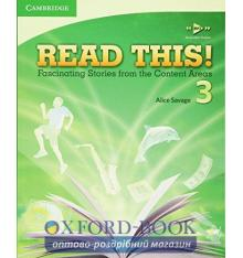 Учебник Read This! 3 Students Book with Free Mp3 Online Savage, A ISBN 9780521747936