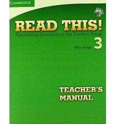 Read This! 3 Teachers Manual + CD Savage, A ISBN 9780521747943