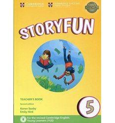 Книга для учителя Storyfun for 2nd Edition Flyers Level 5 Teachers Book with Audio Saxby, K ISBN 9781316617274