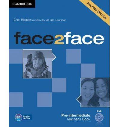 Книга для учителя Face2face 2nd Edition Pre-intermediate Teachers Book with DVD Redston, Ch ISBN 9781107633308
