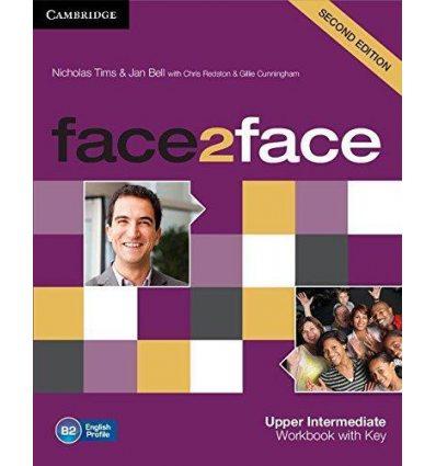 Рабочая тетрадь Face2face 2nd Edition Upper Intermediate Workbook with Key Tims, N ISBN 9781107609563
