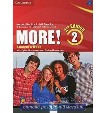 Учебник More! Second edition 2 Students Book with Cyber Homework and Online Resources Puchta, H ISBN 9781107694781