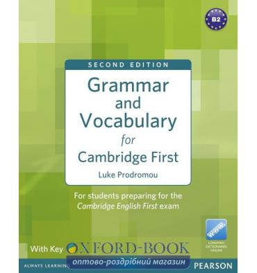 Книга Grammar and Vocabulary for FCE with key NEW ISBN 9781408290590