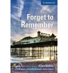 Cambridge English Readers 5 Forget to Remember + Downloadable Audio