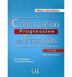 Conjugaison Progressive du Francais 2e edition Intermediaire Livre + CD audio