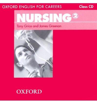 Диск Oxford English for Careers: Nursing 2 Class Audio CD ISBN 9780194569910