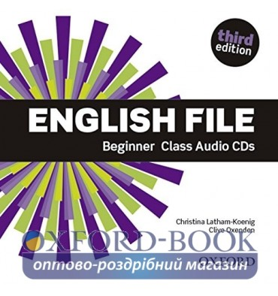 Диск English File 3rd Edition Beginner Class Audio CDs (4) ISBN 9780194501965