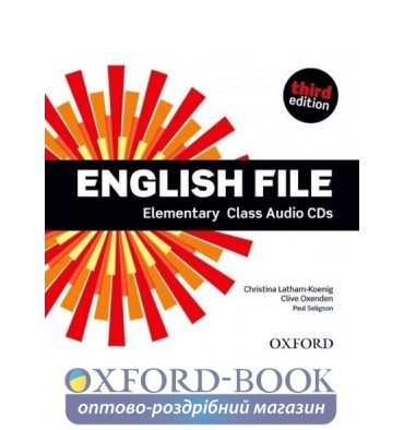 Диск English File 3rd Edition Elementary Class Audio CDs (4) ISBN 9780194598583