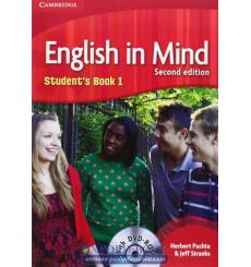 Учебник English in Mind 1 students book with DVD-ROM Puchta, H  3rd Edition 9780521179072 купить Киев Украина