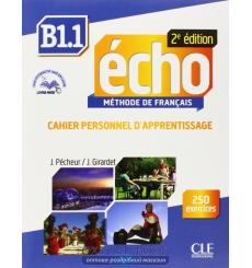 Книга Echo b1.1 Cahier dexercices + CD audio + livre-web Pecheur J. 9782090385977 купить Киев Украина