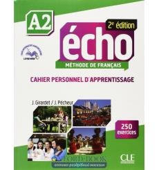 Echo 2e Edition A2 Cahier + CD audio + Livre-web