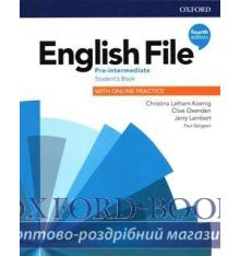 Підручник English File 4th Edition Pre-Intermediate Students Book with Students Resource Centre ISBN 9780194037419