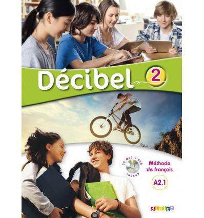 Книга Decibel 2 Niveau A2.1 Livre de l?l?ve Mp3 CD + DVD ISBN 9782278083367