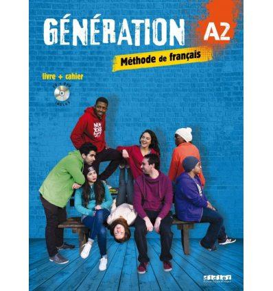 Generation A2 Livre + Cahier + Mp3 CD + DVD ISBN 9782278086320