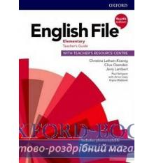 Книжка English File 4th Edition Elementary TG + TRC PK Оксенден, К ISBN 9780194032766