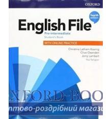 Книжка English File 4th Edition Pre-Intermediate TG + TRC PK Оксенден, К ISBN 9780194037563