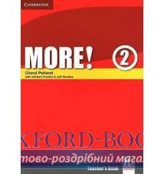 Книга для учителя More! 2 teachers book Pelteret, Ch ISBN 9780521713023 купить Киев Украина