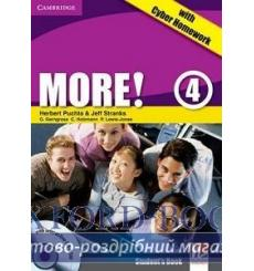 Учебник More 4 Students Book with interactive CD-ROM with Cyber Homework Puchta H 9780521155663 купить Киев Украина