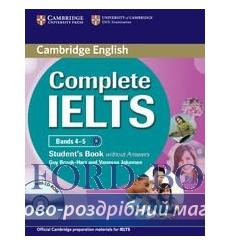 Учебник Complete IELTS Bands 4-5 Students Book without Answers with CD-ROM Brook-Hart, G ISBN 9780521179577 купить Киев Украина