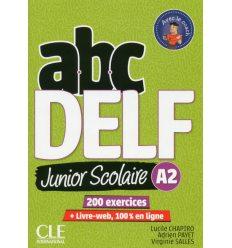 ABC DELF Junior scolaire 2?me ?dition A2 Livre + DVD + Livre-web ISBN 9782090382495