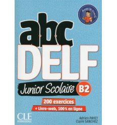 ABC DELF Junior scolaire 2?me ?dition B2 Livre + DVD + Livre-web ISBN 9782090382518