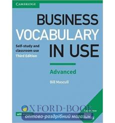 Словарь Business Vocabulary in Use 3rd Edition Advanced with Answers Mascull, B 9781316628232 купить Киев Украина