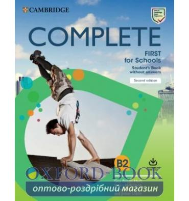 Підручник Complete First for Schools 2 Ed Students Book without Answers with Online Practice Brook-Hart,G